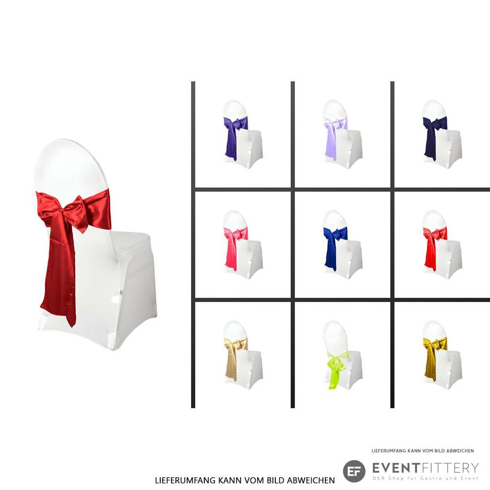 Stuhlschleife aus Satin in Beige Stuhl Schleife Dekoration Satinschleife